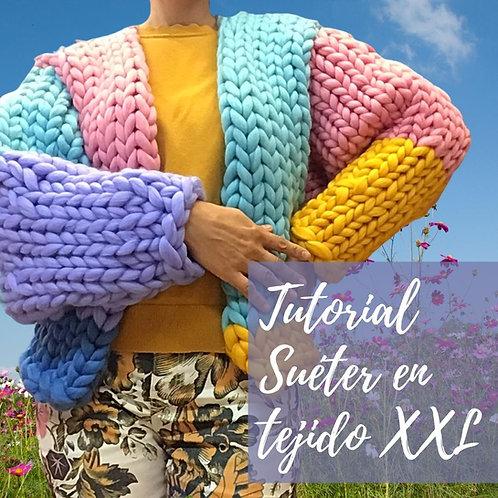 Tutorial para hacer Suéter en tejido XXL