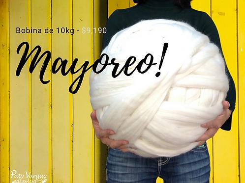 10kg de lana merino blanca
