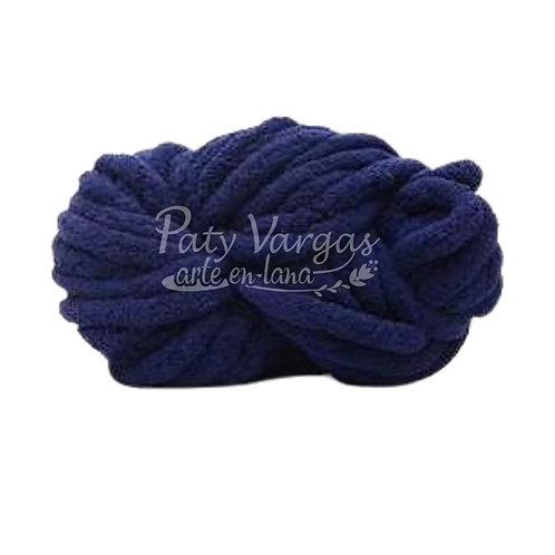 Madeja chenille azul marino