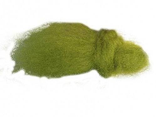 25gr lana de pelo corto verde manzana