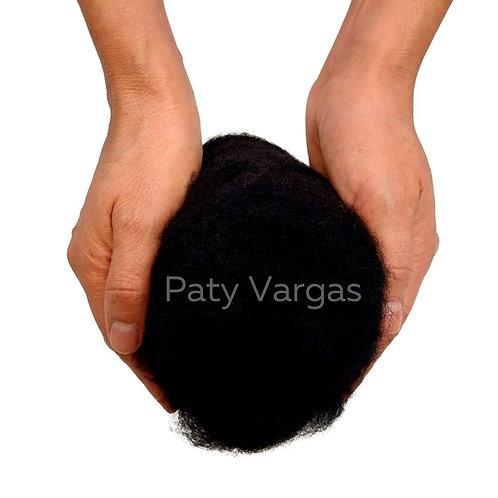 25gr lana de pelo corto negro