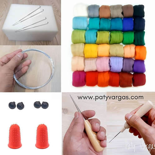 Kit para felting con alambre