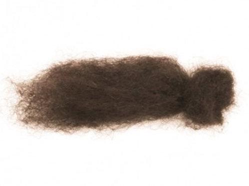 25gr lana de pelo corto café obscuro