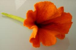 Flores en fieltro