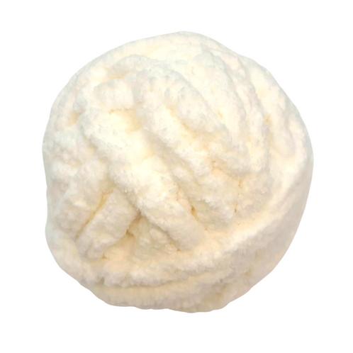 Madeja chenille blanco perla