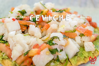 Mouthwatering ceviche.
