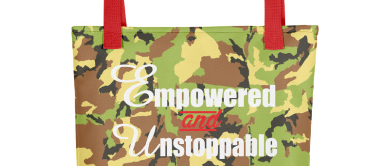 Empowered and Ustoppable Women's Empowerment Tote Bag