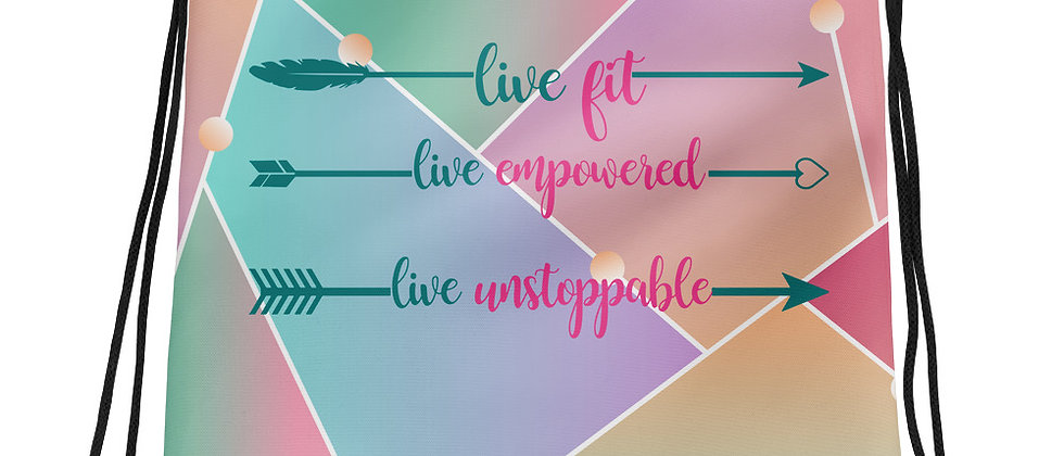 Live Fit, Live Empowered Women's Fitness Gym Bag