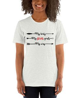 My Body, My Fitness Goal, My Way Women's Fitness Shirt