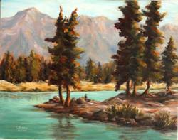 Lovely Lake Enid 14x11 Oil