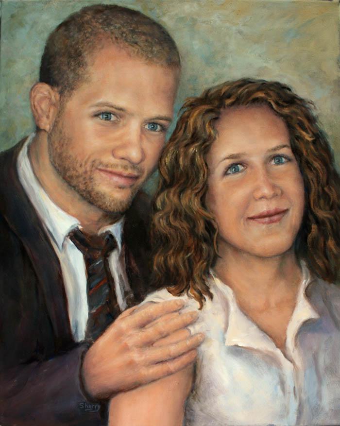 Michael & Jenna 16x20 oil