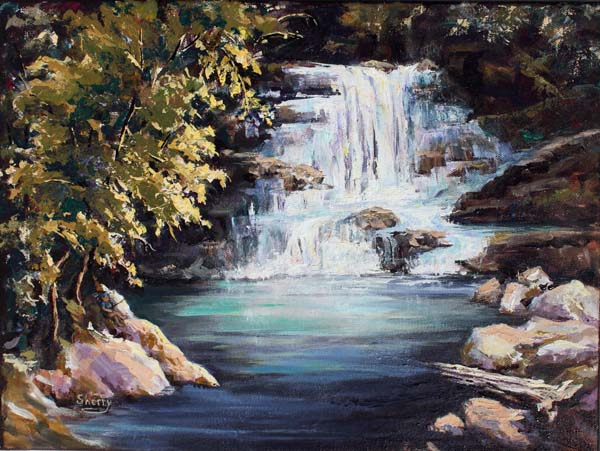 Enchanted Falls 16x12 Acrylic