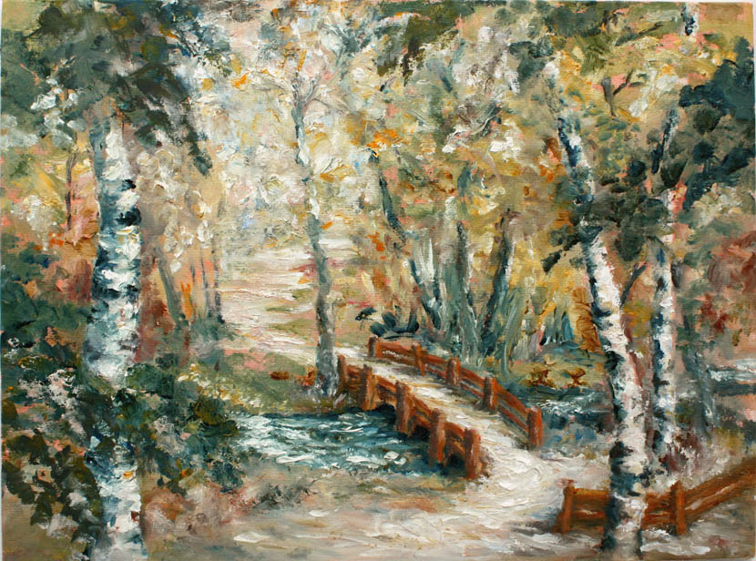 Walk in the Park 12x9 oil