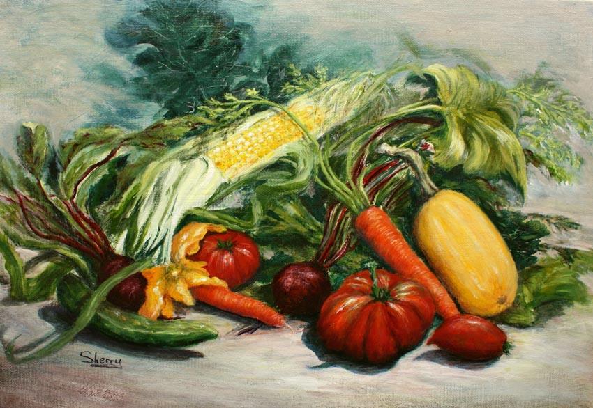 Farmers Market 16x12 acrylic