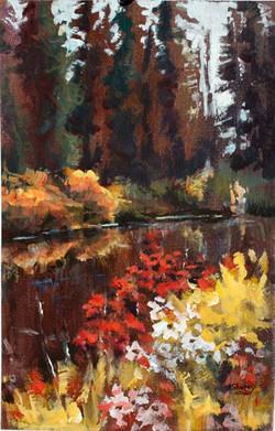 Forest & Flowers 8x12 Acrylic