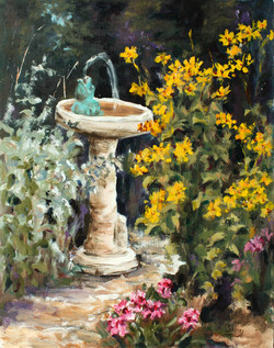 Come Into My Garden II 11x14 acrylic