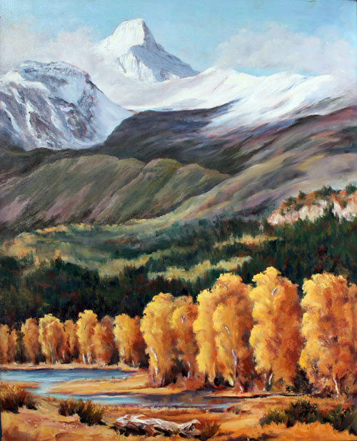 Mt Nelson-First Snow 24x30 oil