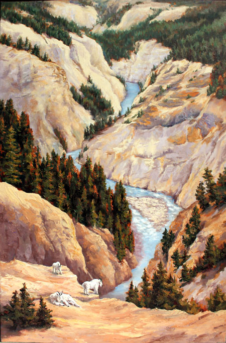 Guardians of Toby Canyon 24x36 oil