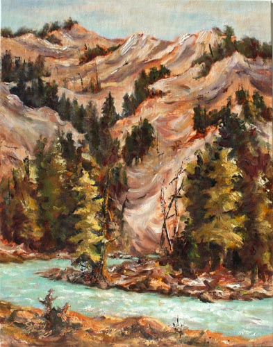 Horsethief Hills 11x14 Oil