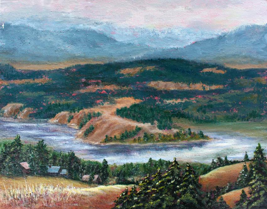 Columbia River 14x11 acrylic