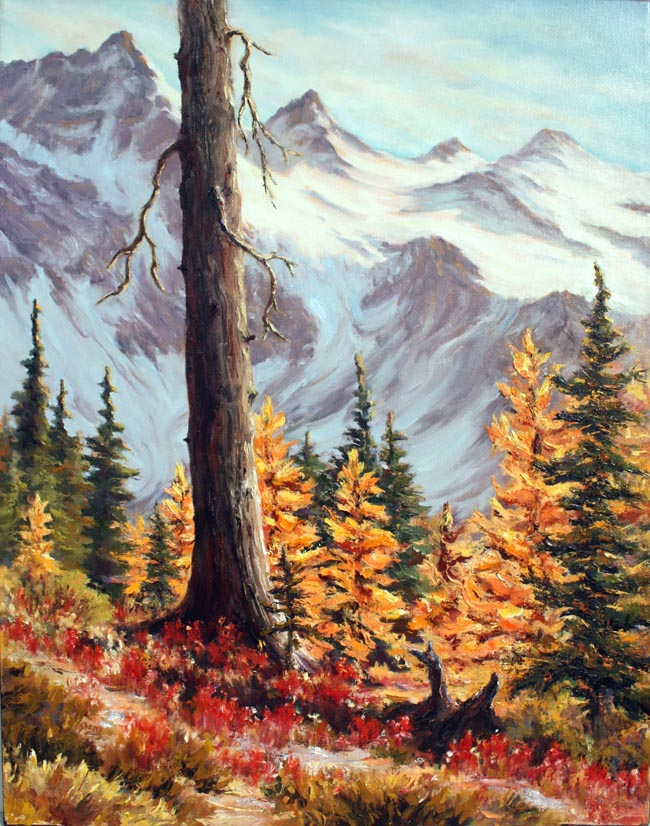 Lonesome Larch 22x28 oil