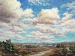 Clipper Clouds 16x12 oil