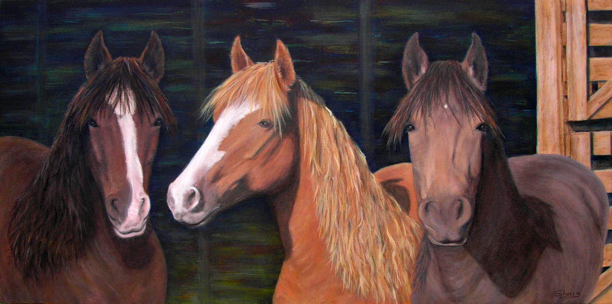 Three Amigos 32x16 acrylic