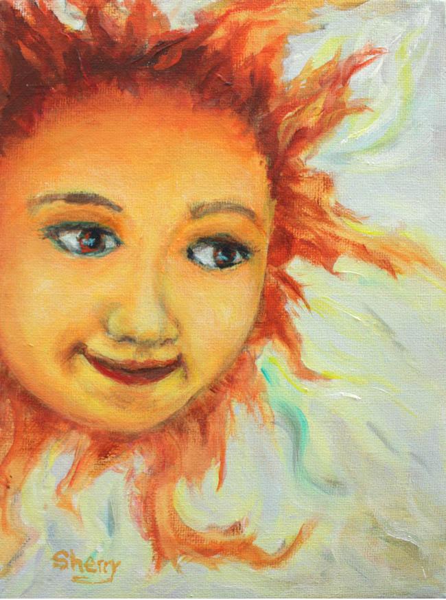 Sun Child 6x8 acrylic