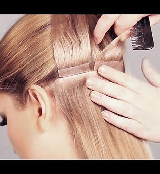 Tape in seamless hair extensions