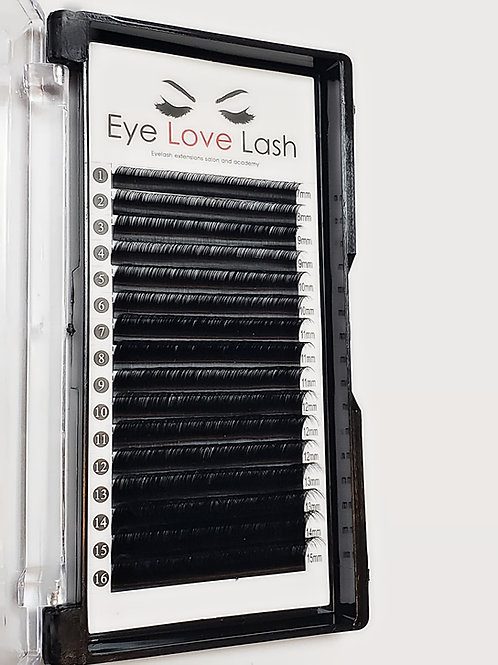 C-CURL MINK LASHES SINGLE LENGTH TRAYS