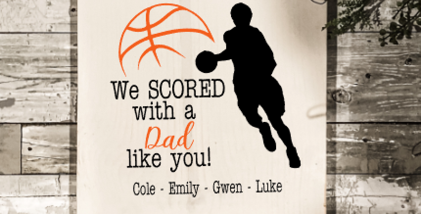 Basketball Father's Day Take & Make Kit