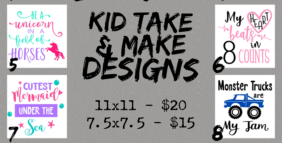 Large Kid Take & Make Kits