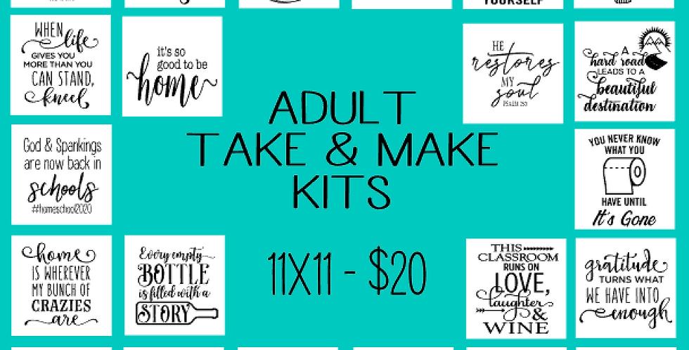 Adult Take & Make Kits