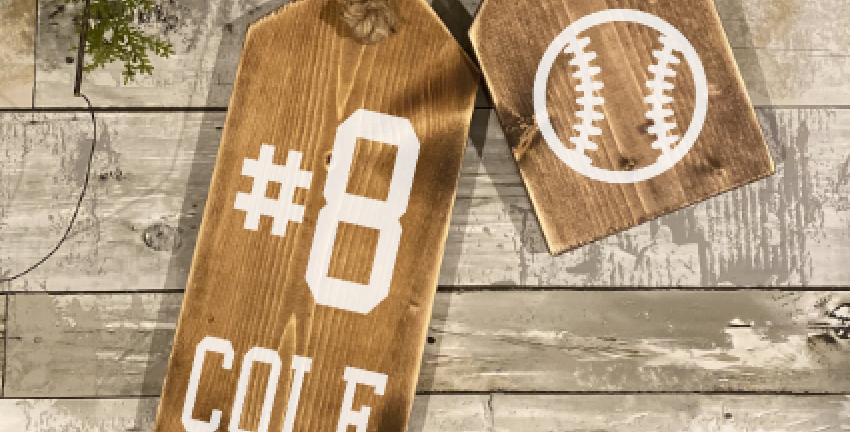 Personalized Sports Wooden Tags Take & Make Kit