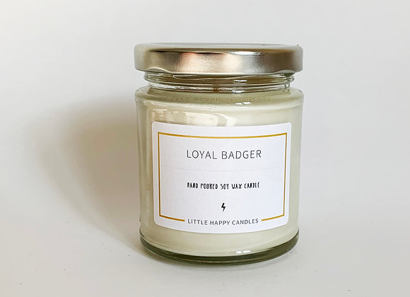 Loyal Badger Candle