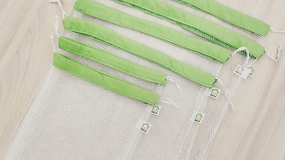 Kit Feira - saquinhos reutilizáveis de filó