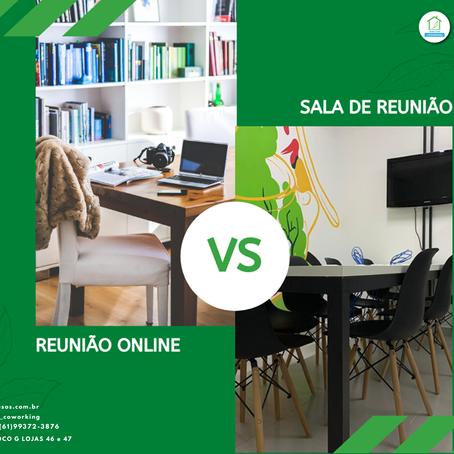 Reunião Online vs Sala de Reunião