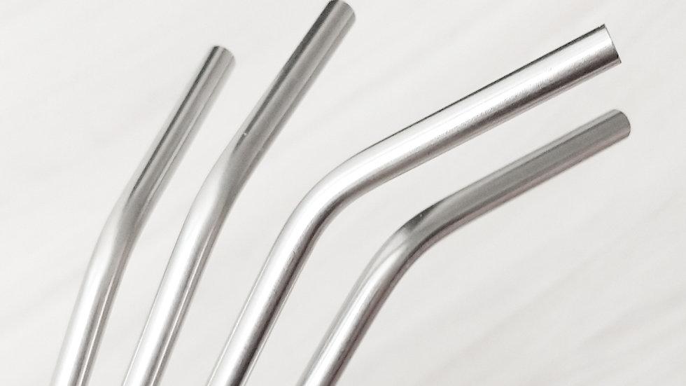 Canudo de aço inox curvado