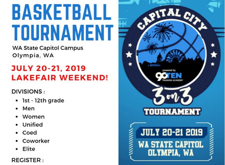 2019 Capital City 3on3 Basketball Flyer