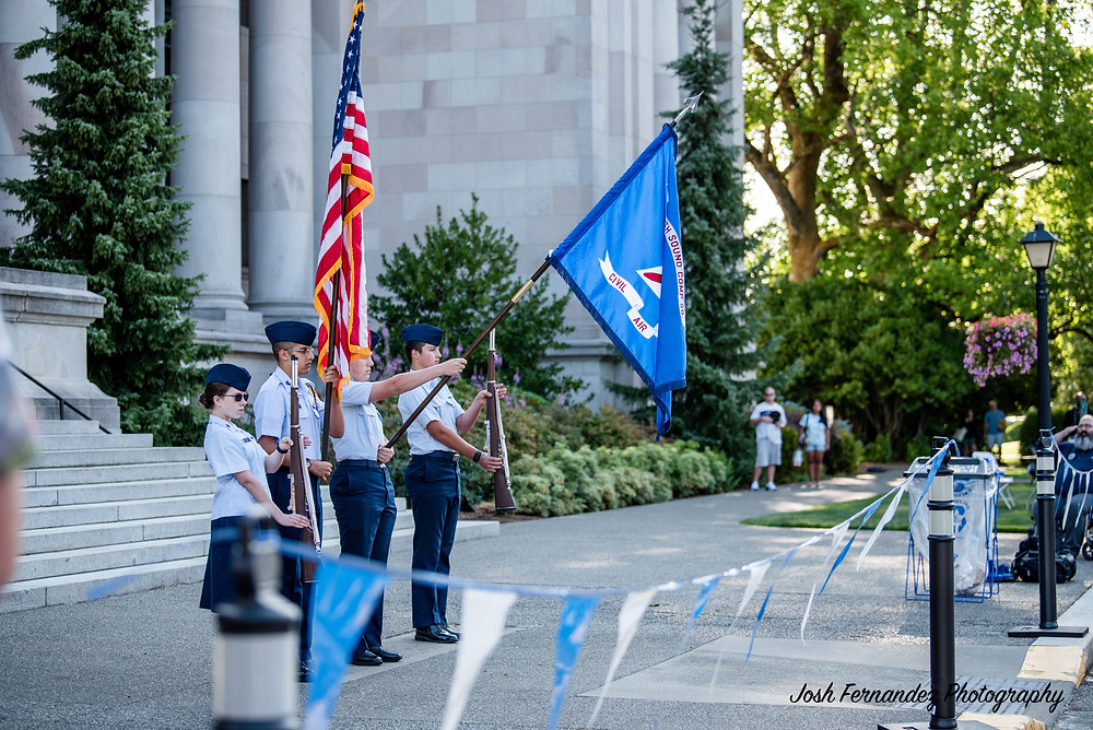 2019 Civil Air Patrol during National Anthem
