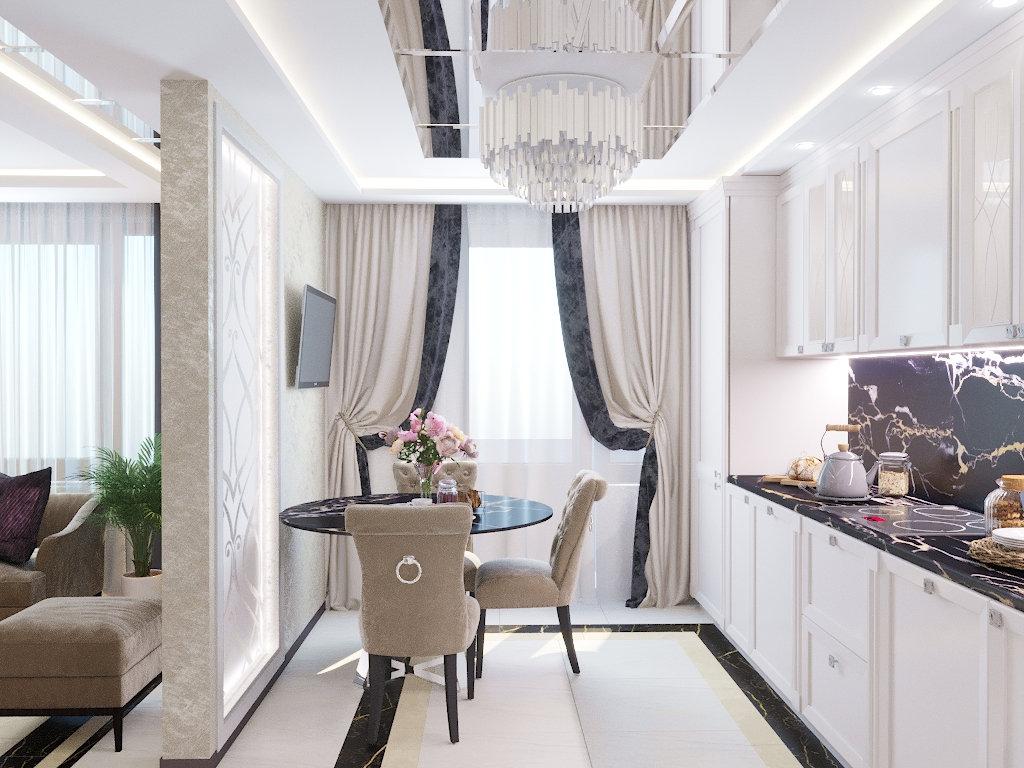 Классическая квартира в г. Москве, 2019г. 