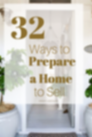 32 Ways o Preprare a Home to Sell