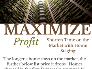 Maximize Profit - Shorten the Time on the Market with Home Staging