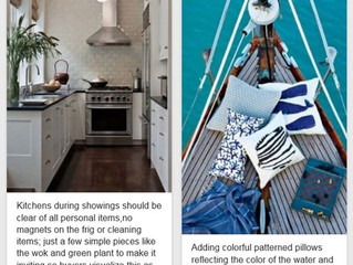 Kitchen Tips and Sailboat Vignette (Pins)