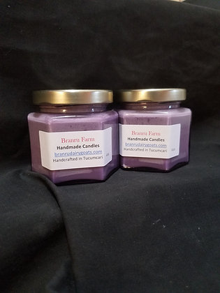 Lavender Flowers Candle