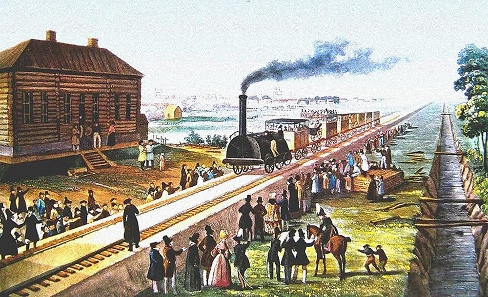 Первая железная дорога в России — Царскосельская