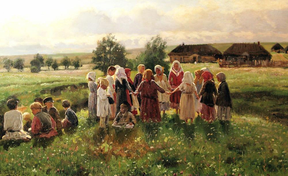 картина крестьяне в хороводе