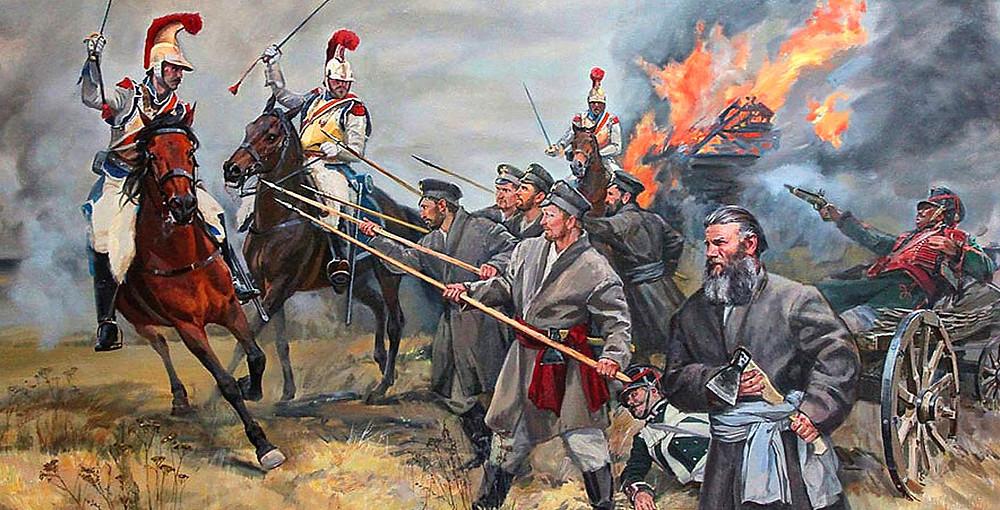 """Картина """"Народное ополчение 1812 года"""""""
