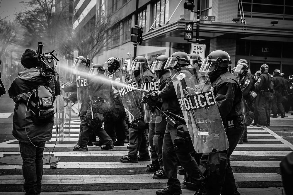 митинг, столкновения с полицией
