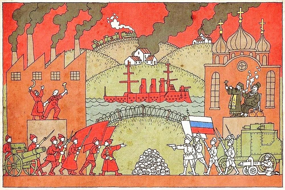 Гражданская война, красные и белые